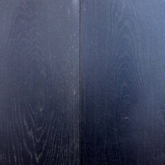 Solid Black Painted Timber Floor Finish
