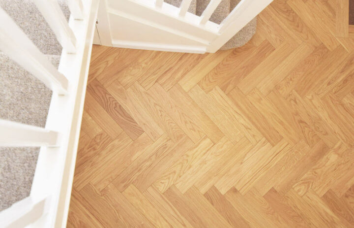 Chaunceys Timber Flooring Project Herringbone Hallway
