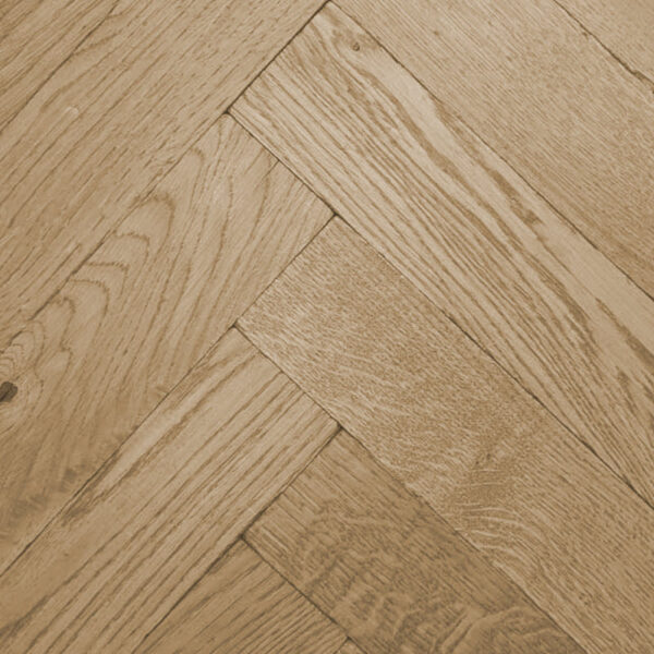 Clear Oiled Tumbled Herringbone Flooring