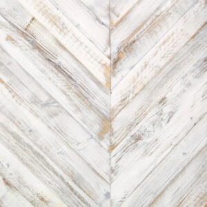 Reclaimed White Chevron Pine