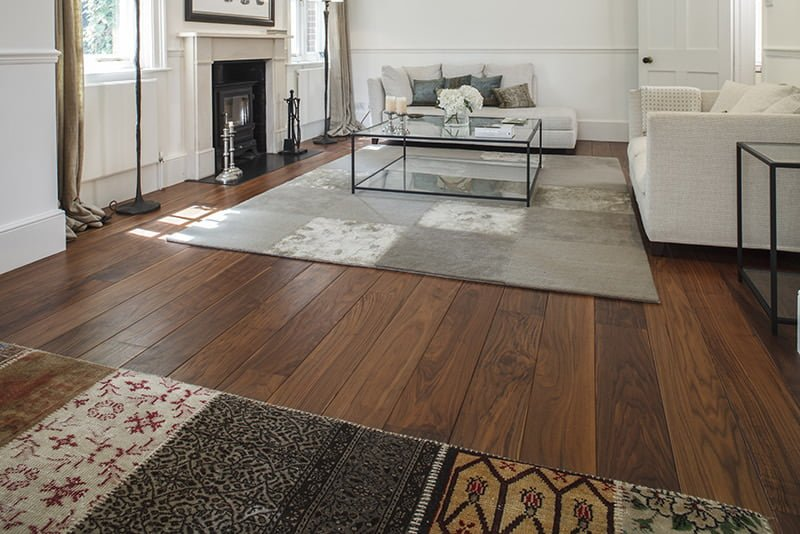 Matt Oiled American Black Walnut Flooring - Wood Flooring Project