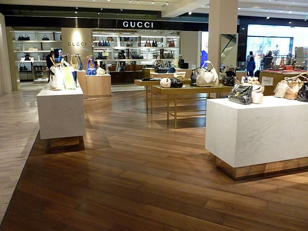 Smoked Chevron Oak Flooring - Wood Flooring Project