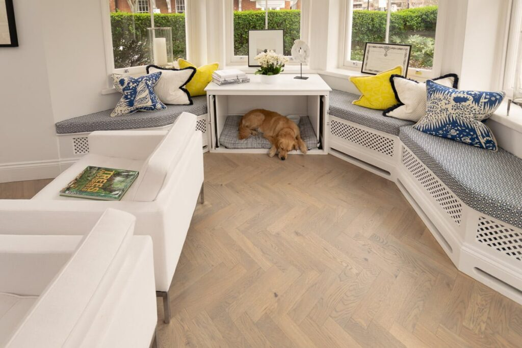 China Clay Herringbone Parquet - Wood Flooring Project