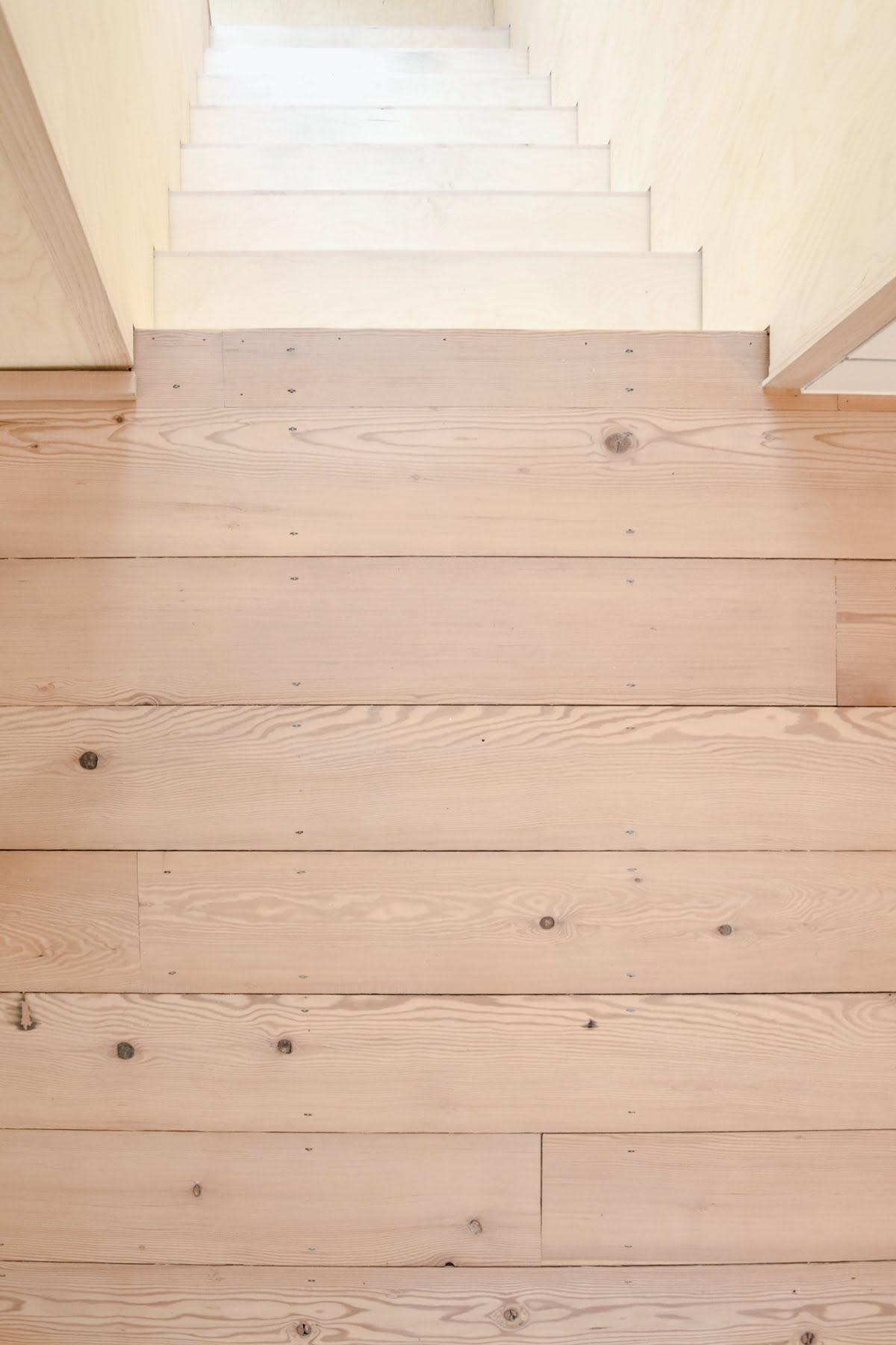 reclaimed douglas fir flooring, landing