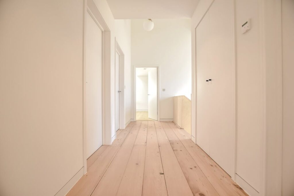 reclaimed douglas fir flooring, hallway