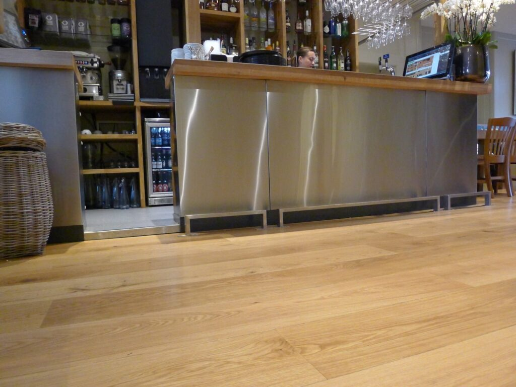 Matt Oiled Mixed Length Oak Flooring, Cowshed Bath - Wood Flooring Project