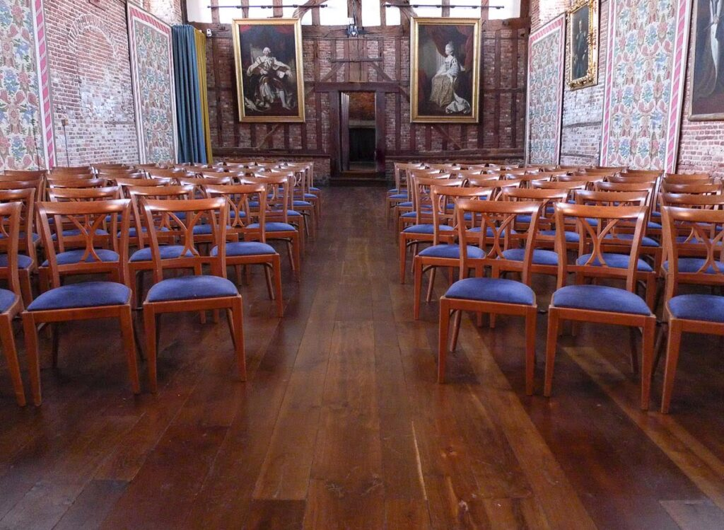 Chaunceys' Regency Russet distressed wood flooring at Hatfield House project