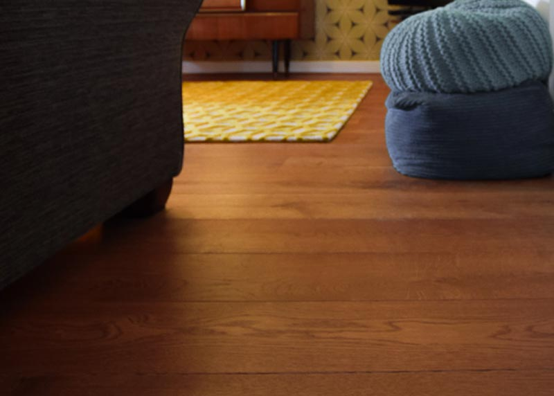 Pullman Brown Finished Oak Floors, Retro Home - Wood Flooring Project