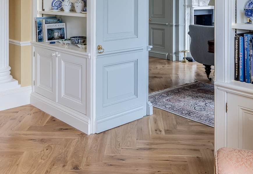 Clear Oiled Engineered Herringbone, Kitchen - Wood Flooring Project