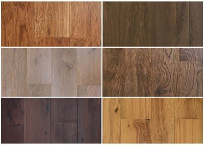 Available finishes - Chaunceys Earth collection
