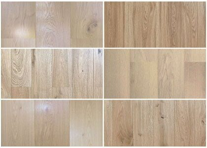Available finishes - Chaunceys Natural Oiled collection