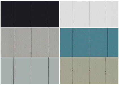 Available finishes - Chaunceys Painted collection