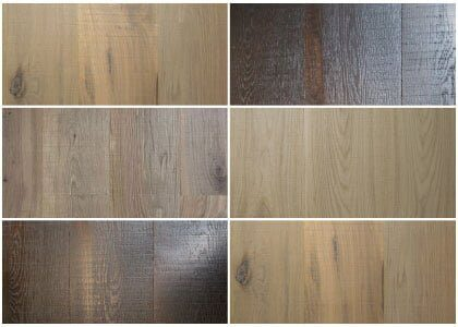 Finishes available - Chaunceys Rough Sawn and Brushed wood flooring