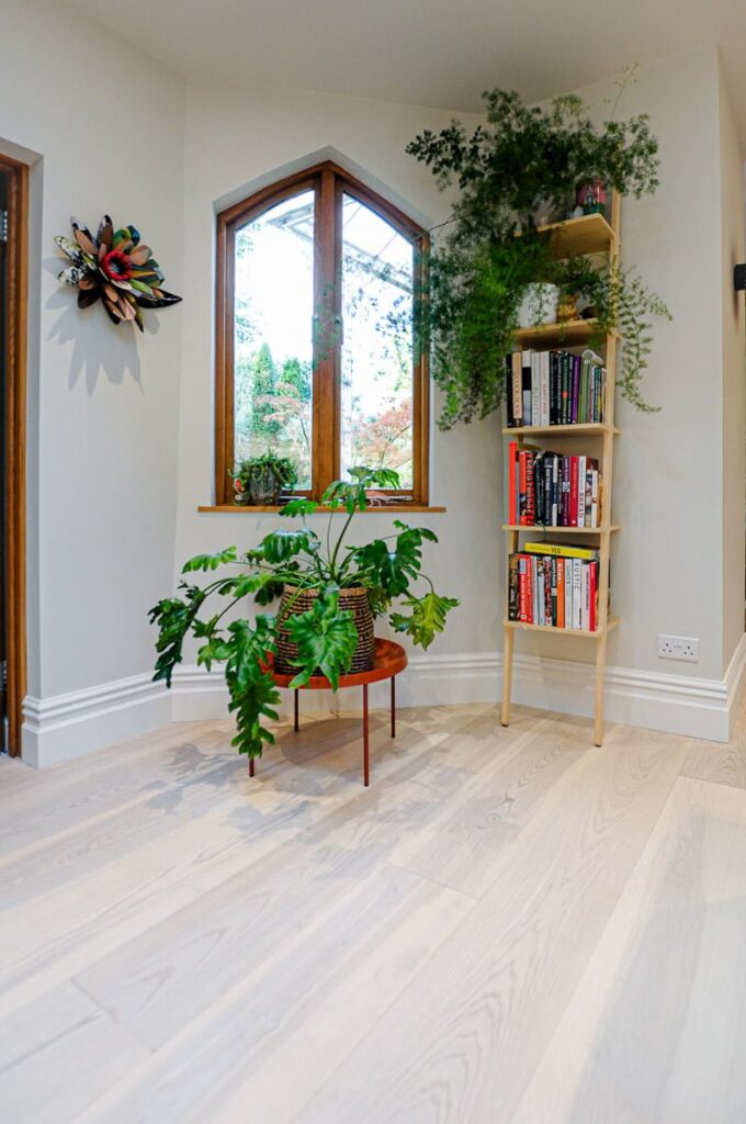 European Ash Wooden Floors with a Light White Finish
