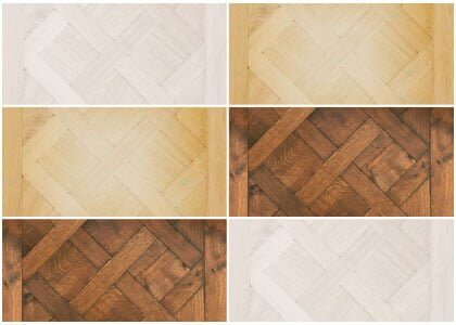 Finishes available for Chaunceys oak Versailles panels