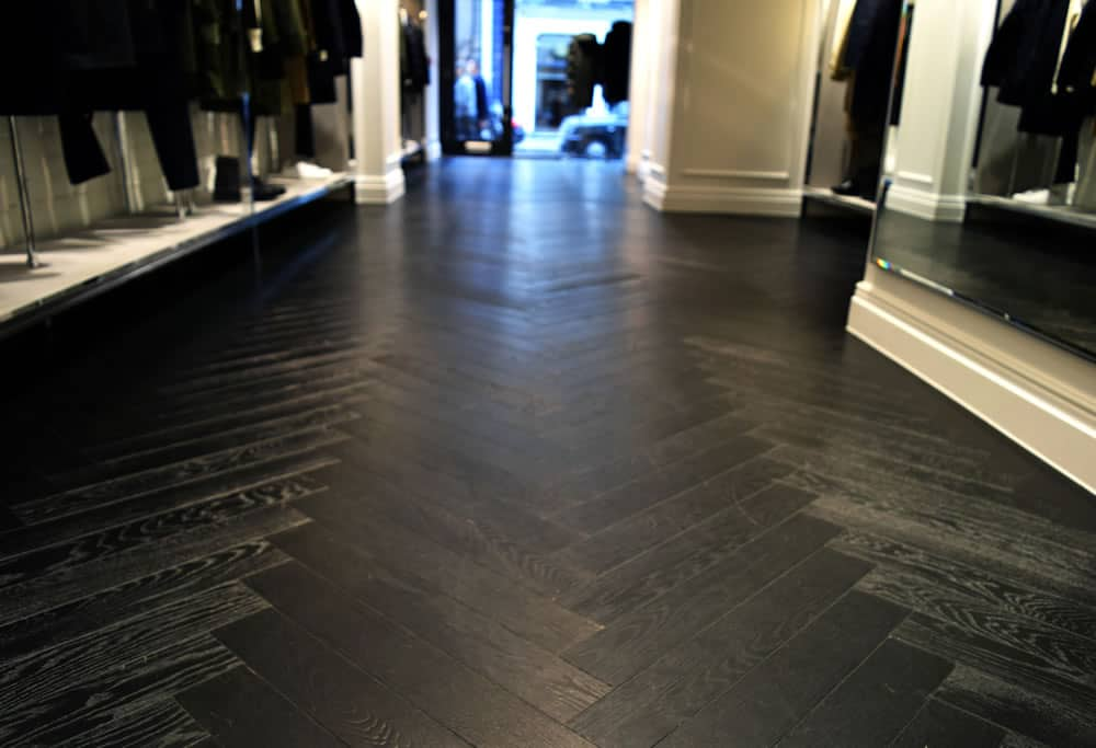 Mackintosh Soho - Black Painted Herringbone
