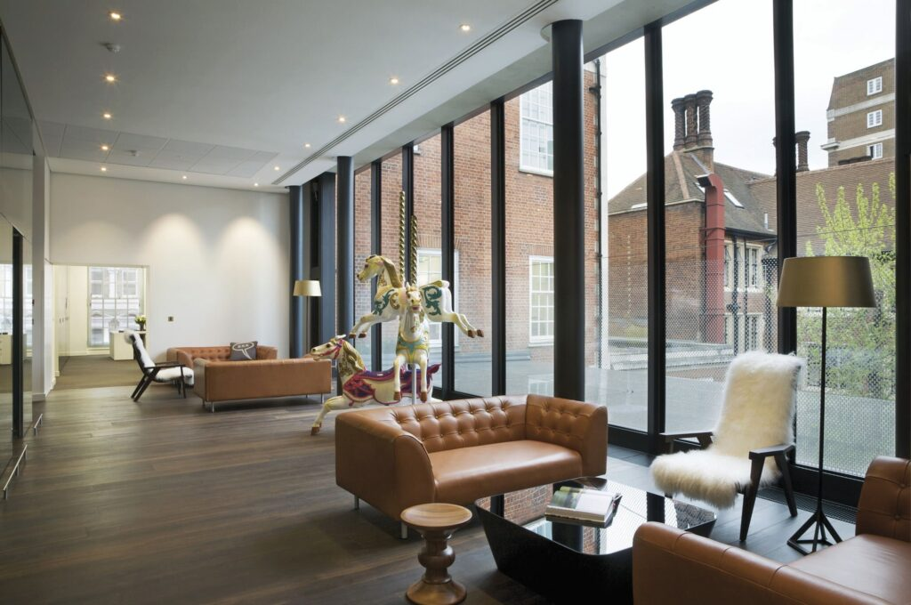 Mulberry Head Office Deep Smoked Oak Flooring