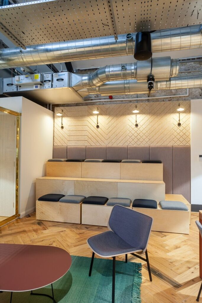 Channel 4 Bristol Offices Reclaimed Boxcar Herringbone Oak