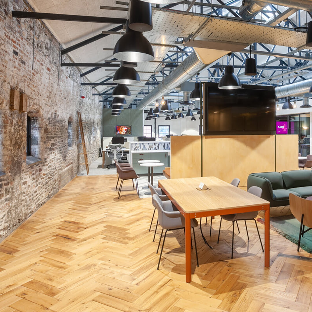 Channel 4 Bristol Offices Reclaimed Boxcar Oak