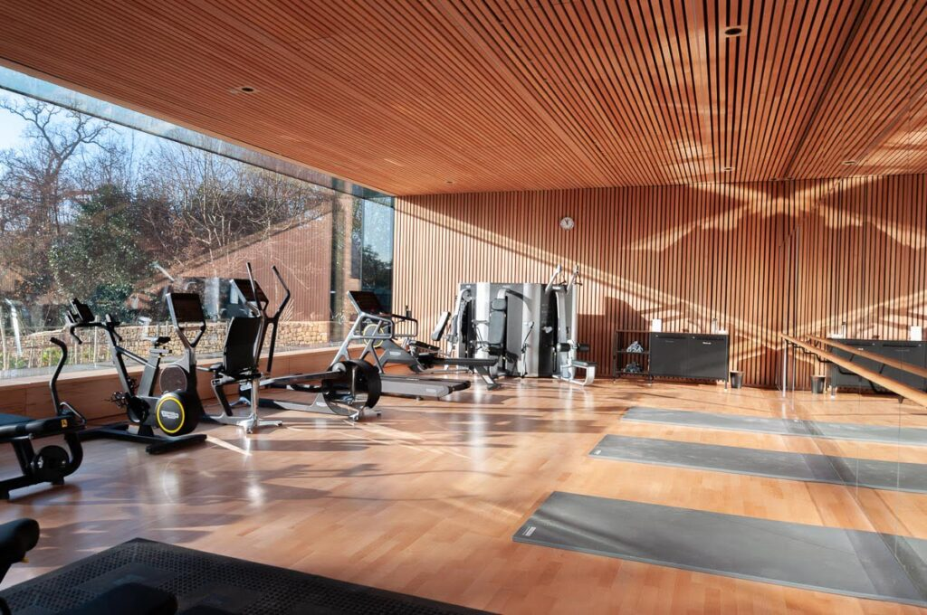 Wood Flooring in A Gym