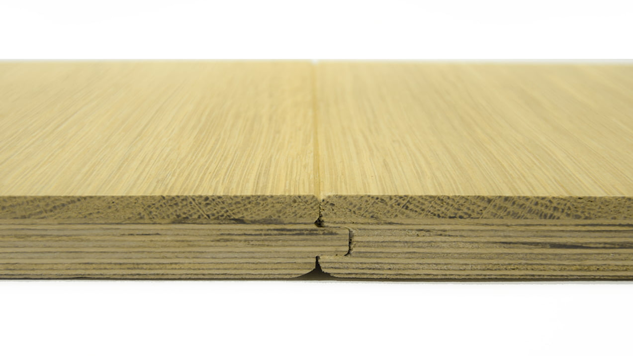 Micro Bevel profile on Engineered Oak floorboard