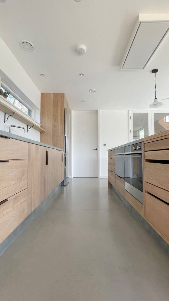 Sawn Smoked and White Oiled engineered oak cabinetry