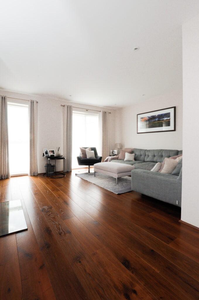Thermo Baked engineered oak wood flooring in living room