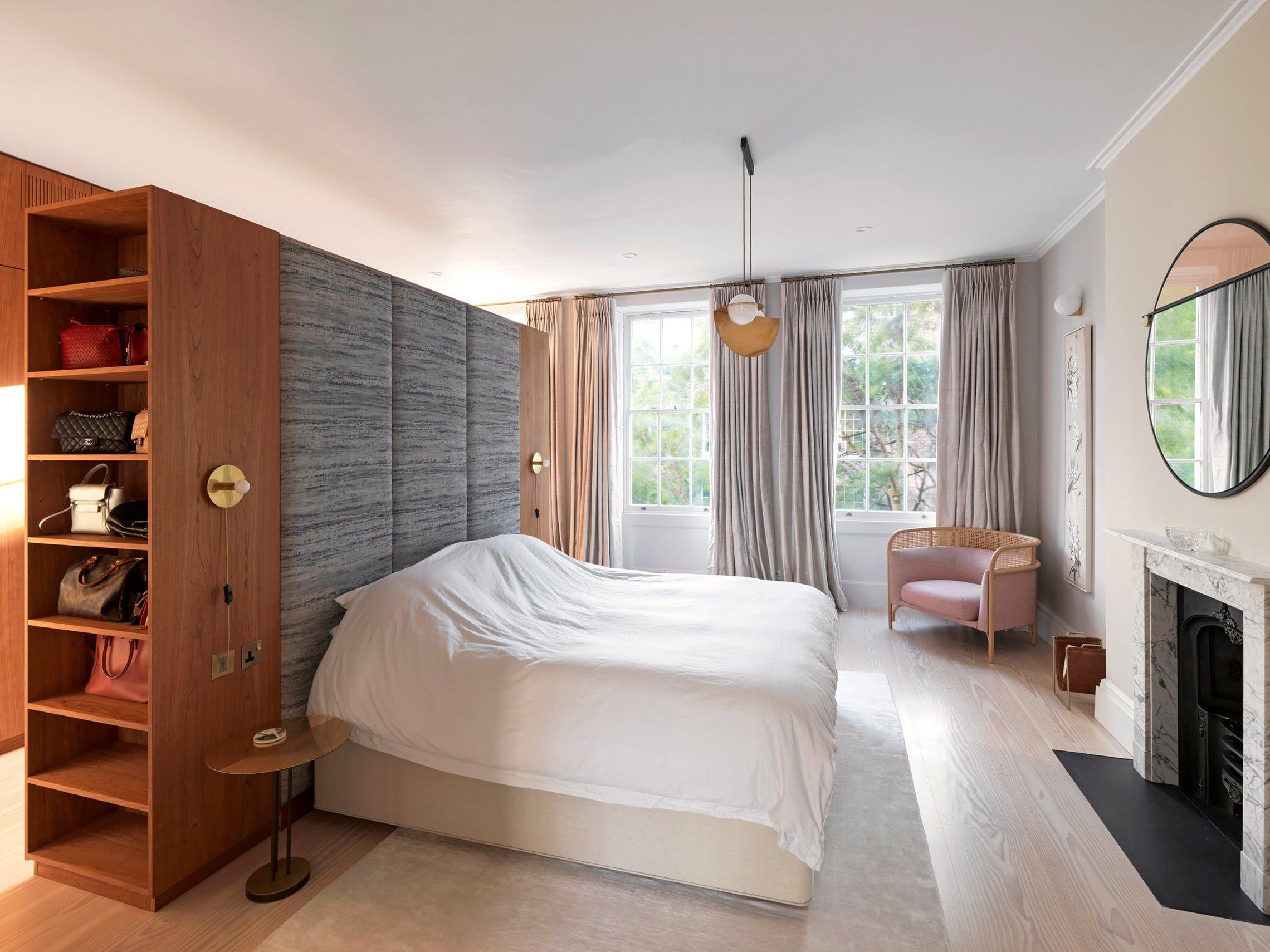 Double Linen Douglas Fir engineered flooring in bedroom